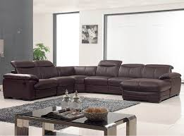 U Sectional Sofas by Shaped Sectional Sofa W Recliner Ef 12146