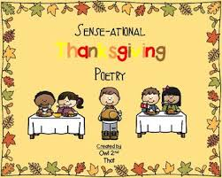 sense ational thanksgiving poetry 5 sense poems by owl 2nd that