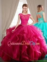 fuchsia quinceanera dresses simple ruffled brush fuchsia quinceanera dress with appliques
