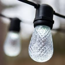 patio lights commercial cool white led patio string lights 24