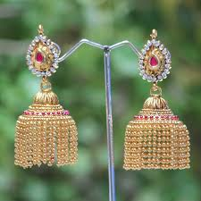 jhumka earrings online shopping buy big jhumkas online gold jhumka designs jhumka gold big
