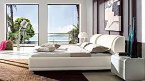 Leather Platform Bed Morocco White Leather Platform Bed With Storage King