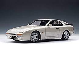 porsche 944 silver amazon com 1985 porsche 944 turbo silver metallic 1 18