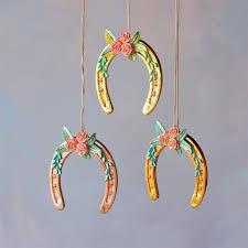 horseshoe christmas ornaments parisian glitterville shop