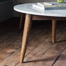deco en zinc deco white marble coffee table