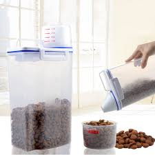 Storage Containers For Flour Portable Dry Dried Food Cereal Flour Storage Rice Container Pet