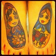 russian doll tattoo matryoshkas on feet tattoomagz