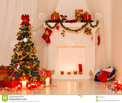 Interior Design Gifts Christmas Room Interior Design Xmas Tree Decorated By Lights