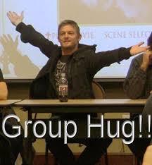 Group Hug Meme - since we can t give u a group hug can u give us some follow love