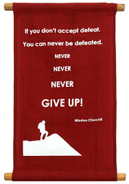 gratitude quotes churchill if you don u0027t accept defeat you can never be defeated never