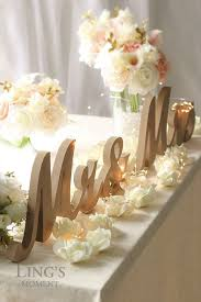 mr mrs wedding table decorations large mr and mrs signs wooden letters rustic wedding sweetheart