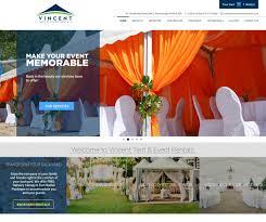vincent event and tent rentals golden touch web design