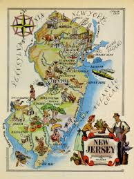 Map New Jersey New Jersey Pictorial Map 1946
