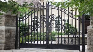 wrought iron fence designs with black paint color ideas gate