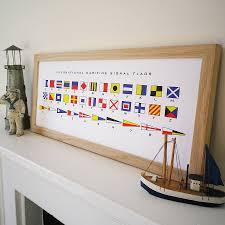 Us Navy Signal Flags Maritime Signal Flags Alphabet Print By Glyn West Design