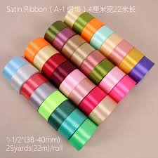 colorful ribbon 4cm wide 25 yards silk colorful ribbon wedding gift wrapping