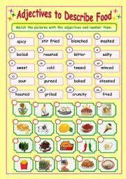 adjectives for describing food part 1 learning english