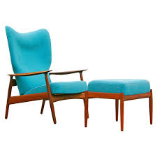 mid century modern chair and ottoman drk architects