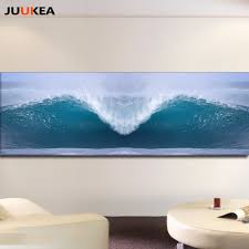 aliexpress com buy hd photography art sea wave surf landscape aliexpress com buy hd photography art sea wave surf landscape canvas art print painting horizontal 60x180 wall picture for living room home decor from