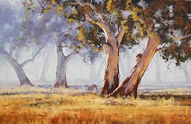kangaroo grazing painting by graham gercken
