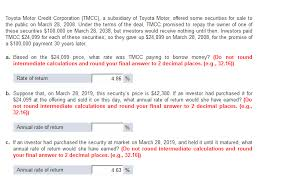 toyota motor credit number solved toyota motor credit corporation tmcc a subsidia