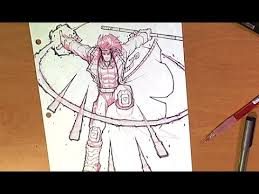 realtime art sketching x men gambit youtube