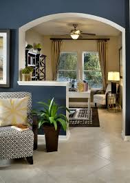 love the half wall to slightly separate the home office from the
