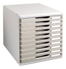 bloc de classement bureau module de classement exacompta modulo 10 tiroirs couleur maxiburo