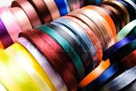ribbon spools many coloured ribbon spools in the craft stock photo colourbox