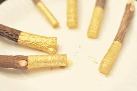 dipped in gold how to make gold dipped pencils