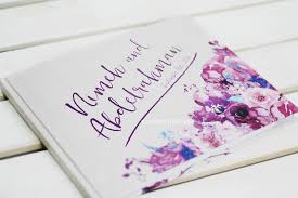 purple wedding guest book a floral wedding guest book time2partay