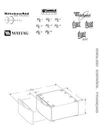 Pedestal Installation Kitchenaid Washer 15 5