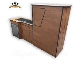 laminate swb p top kitchen unit with waeco fridge smev9222 sink
