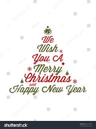 we wish you merry happy stock vector 529237999