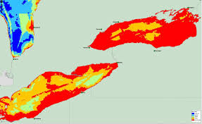 White Lake Michigan Map by Researchers Map 34 Threats To The Great Lakes Michigan Radio
