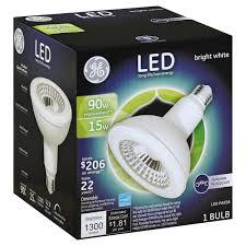 ge light bulb led outdoor floodlight bright white 15 watts