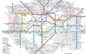 Underground Map Tube Strike Walking Map Shows Distance Between Stations Ahead Of