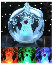 amazon com led snowman ornament glass globe ornament with