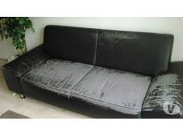 canapé simili cuir noir canapé simili cuir noir 180 cm toulouse en offres mai