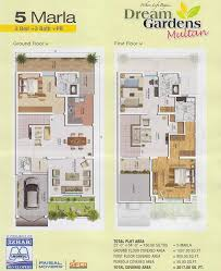 home design ideas 5 marla 5 marla house layout drawings in dream gardens multan 15 classy
