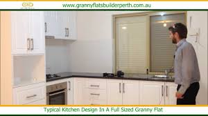 Design In Kitchen by A Typical Kitchen Design In A Full Sized Granny Flat Youtube
