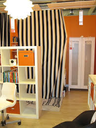 Black And White Striped Curtains Ikea Long White Black Striped Pattern Shower Curtain On Chrome Metal