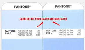 print design how do pantone coated and uncoated colors relate