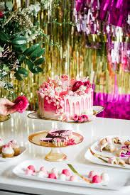 pink and gold cake table decor pink dessert table pink and gold party ideas 100 layer cake