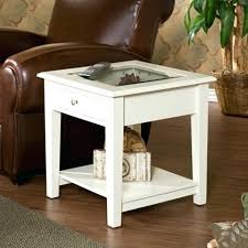 White Accent Table White End Tables Southern Enterprises Inc Somerset Panorama End