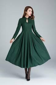 party dress green wool dress dressprom dress party dress maxi