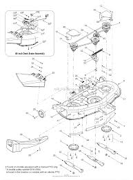 mtd 13aq608h729 2004 parts diagram for deck assembly