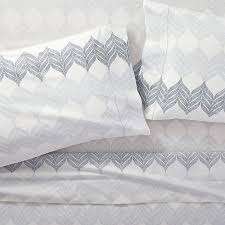 pattern queen sheet sheesha leaf sheet sets crate and barrel