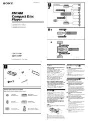 sony cdx f5000 fm am compact disc player manual