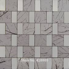 Wholesale Glass Mosaic Tile Squares Red Rose Pattern 304 by Metallic Tile Sheets Metal Tiles Steel U0026 Aluminum Blend Mosaic